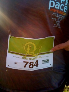 My bib number
