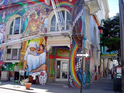 One of the hundreds of murals that can be found walking the Mission District neighborhood.