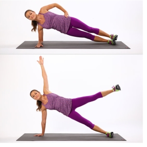 side plank with leg lifts