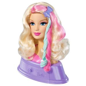 My  Barbie head didn't have the cool colors in her hair, but it was pretty close to this one.