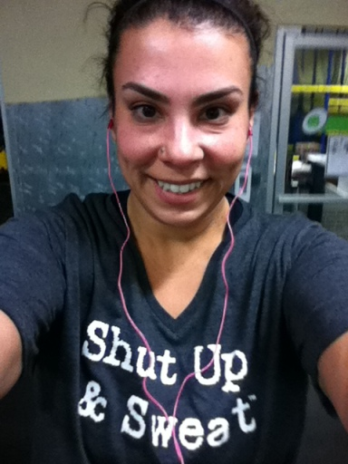 That smile really says it all (I snapped this at the end of my workout).