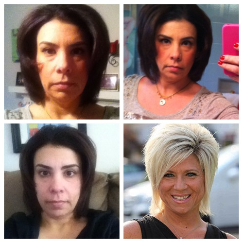 Can you say, Long Island Medium? I think the look on my face says it all.