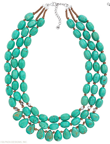 I absolutely love this turquoise statement necklace.